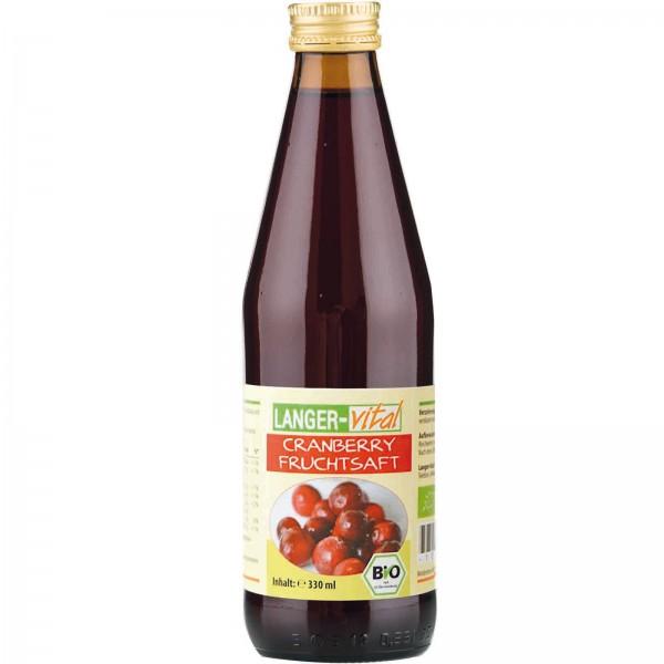 Cranberry Fruchtsaft Bio, 330 ml