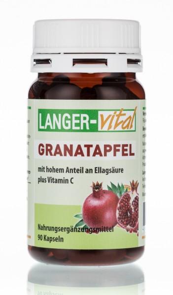Granatapfel mit Ellagsäure + Vitamin C, 90 Kapseln