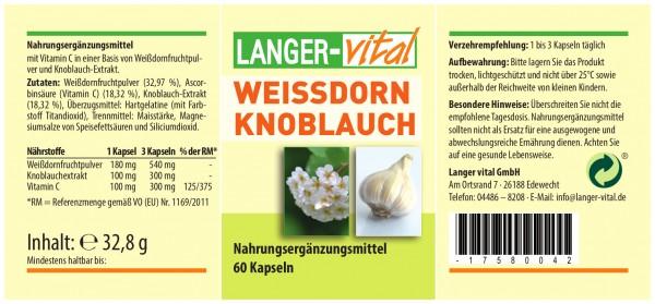 Weissdorn Knoblauch, 60 Kapseln