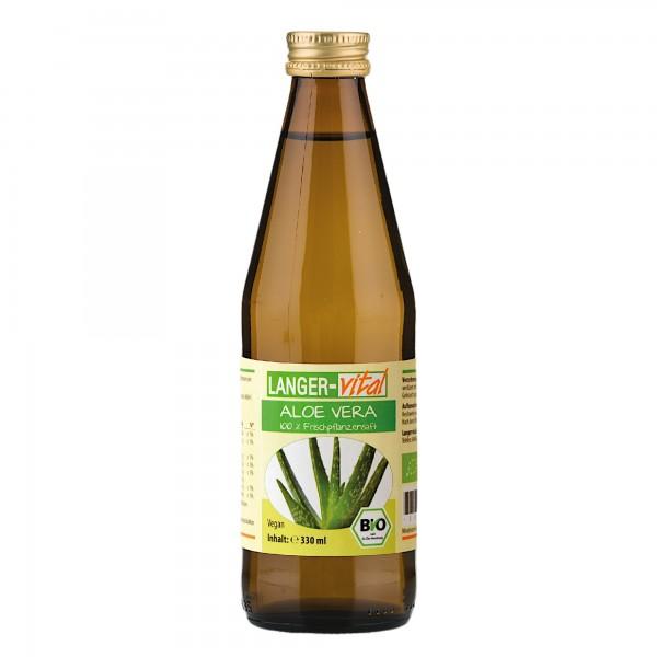 Aloe Vera 100 % Frischpflanzensaft Bio, 330 ml