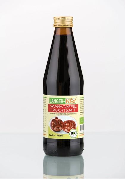 Granatapfel Fruchtsaft Bio, 330 ml
