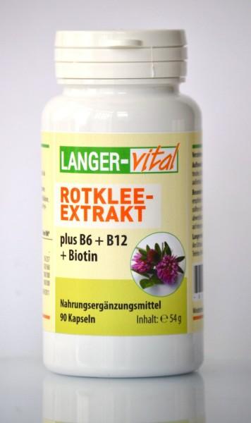 Rotklee-Extrakt plus B6, B12, Biotin, 90 Kapseln