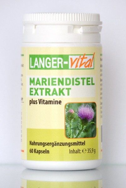 Mariendistelextrakt plus Vitamine, 60 Kapseln