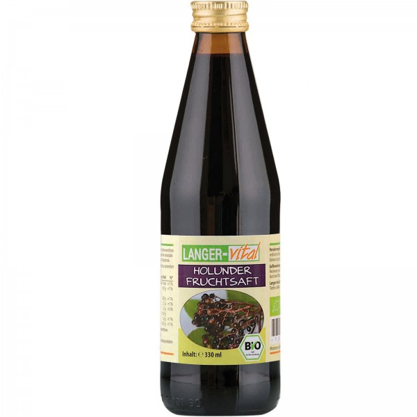 Holunder Fruchtsaft Bio, 330 ml