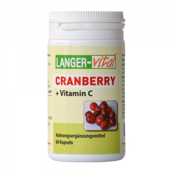 Cranberry + Vitamin C, 60 Kapseln