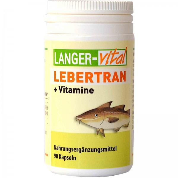 Lebertran + Vitamine, 90 Kapseln