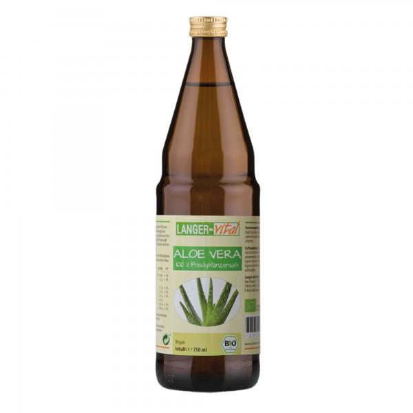 Aloe Vera 100 % Frischpflanzensaft Bio, 750 ml