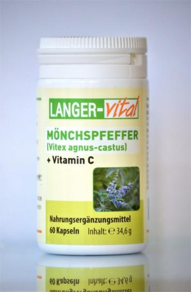 Mönchspfeffer (Vitex agnus-castus) + Vitamin C, 60 Kapseln