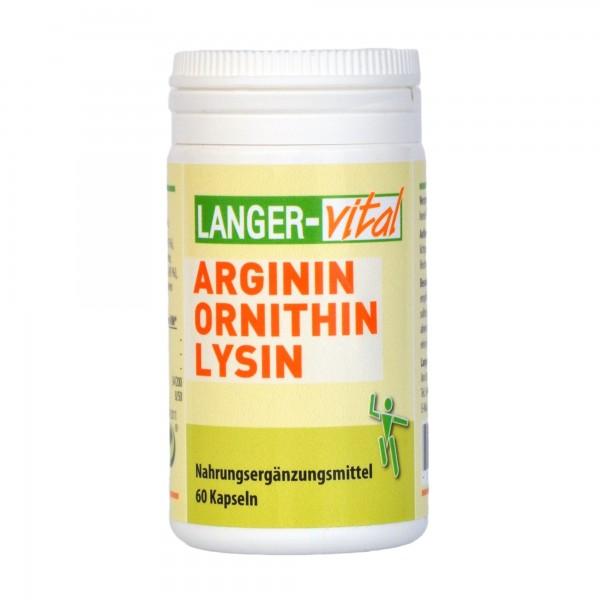 Arginin Ornithin Lysin, 60 Kapseln
