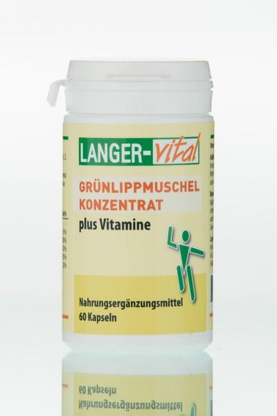 Grünlippmuschel Konzentrat + Vitamine, 60 Kapseln