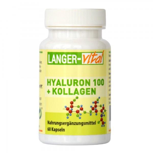 Hyaluron 100 + Kollagen, 60 Kapseln