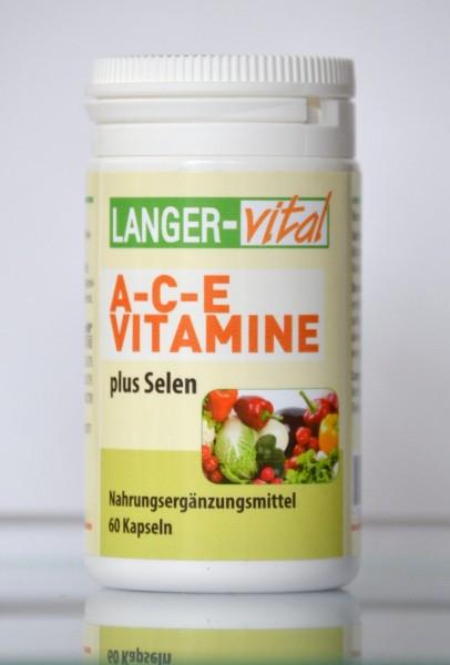A-C-E Vitamine + Selen, 60 Kapseln