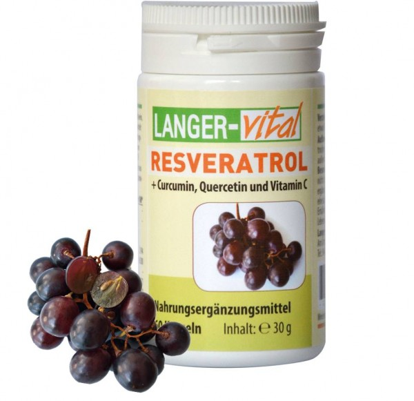 Resveratrol + Curcuma, Quercetin und Vitamin C, 60 Kapseln