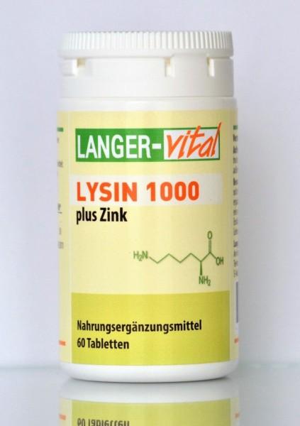 Lysin 1000 + Zink, 60 Tabletten